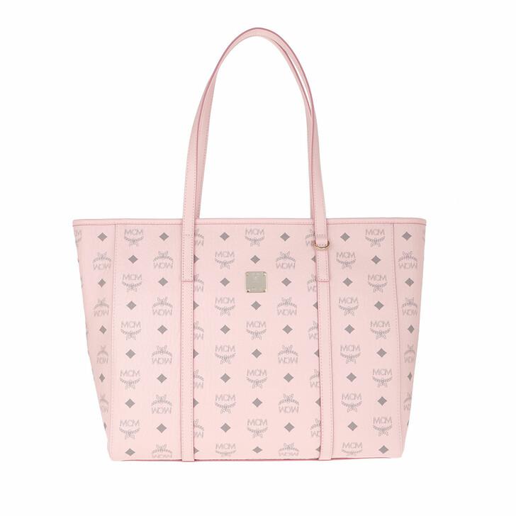 Handtasche, MCM, Toni Shopper Medium Visetos Powder Pink