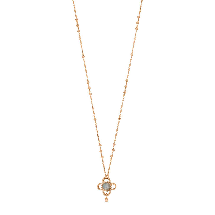 necklaces, Leaf, Necklace Clover Gem Sterlingsilver Rose Gold