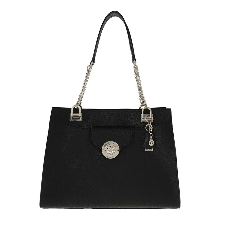 bags, Guess, Belle Isle Society Carryall Black