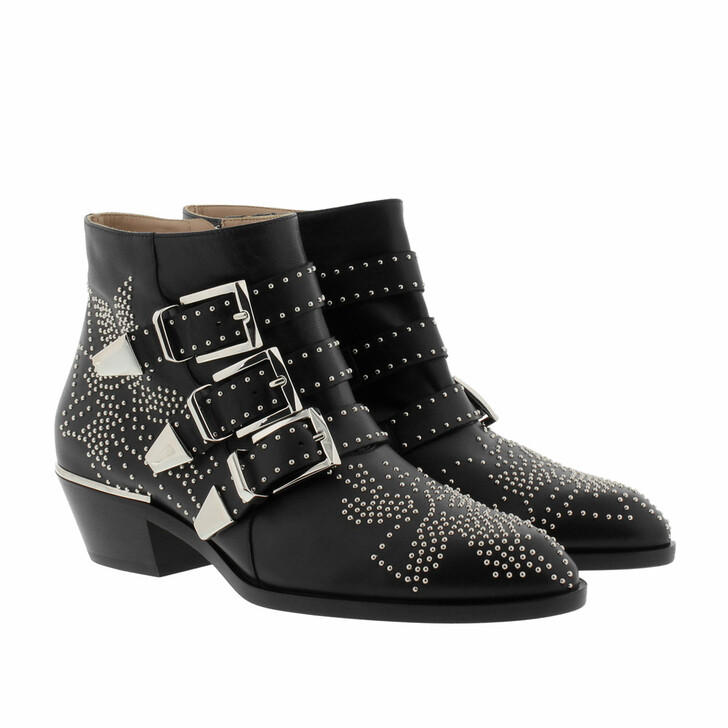 Schuh, Chloé, Susanna Nappa Boots Black Silver