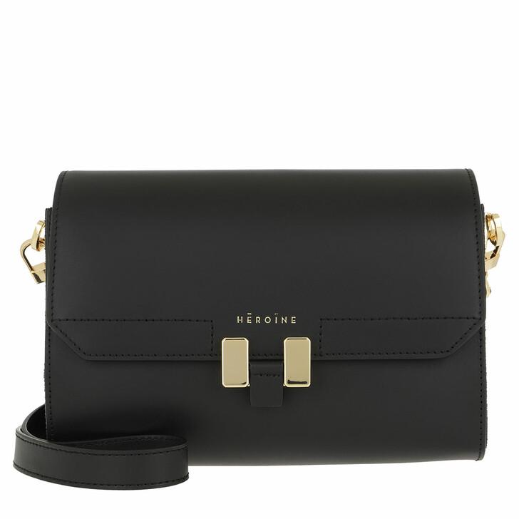 Handtasche, Maison Hēroïne, Lilia Tablet Mini Black/Black Lavagna/Gold