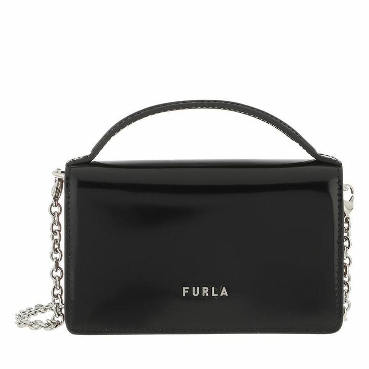bags, Furla, Furla Splendida Micro Bag Nero+Cognac H