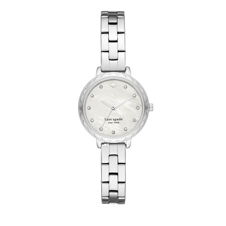watches, Kate Spade New York, Morningside Scallop Three-Hand Stainless Steel Wat Silver