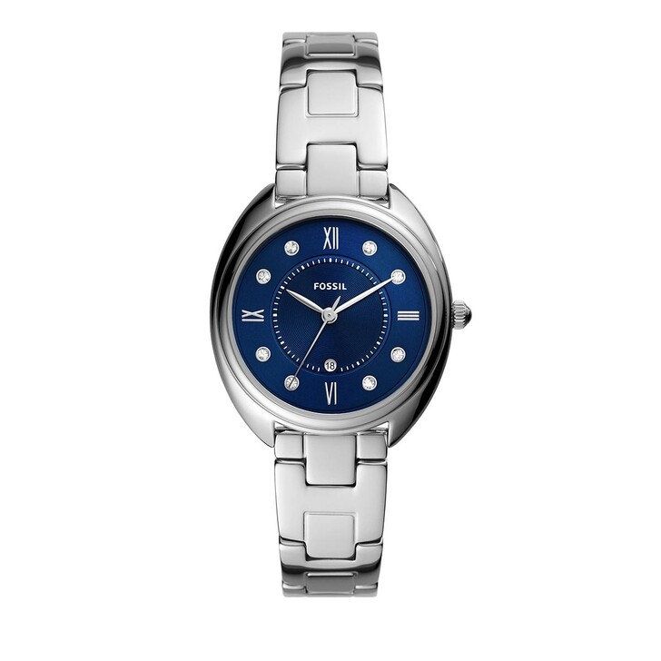 Uhr, Fossil, Gabby Three-Hand Date Stainless Steel Watch Silver
