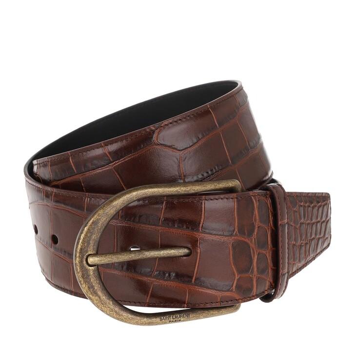 belts, Saint Laurent, Croco Chic Corset Belt Castagna