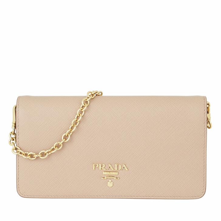 Handtasche, Prada, Logo Wallet on Chain Saffiano Leather Cipria