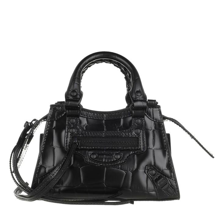 Handtasche, Balenciaga, Neo Classic City Nano Bag Textured Calf Leather Black