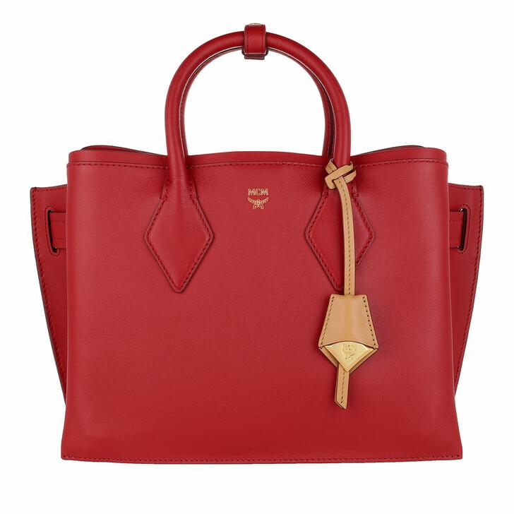 Handtasche, MCM, Neo Milla Tote Medium Ruby Red