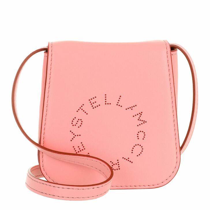 bags, Stella McCartney, Micro Bag Bicolor Rose Red