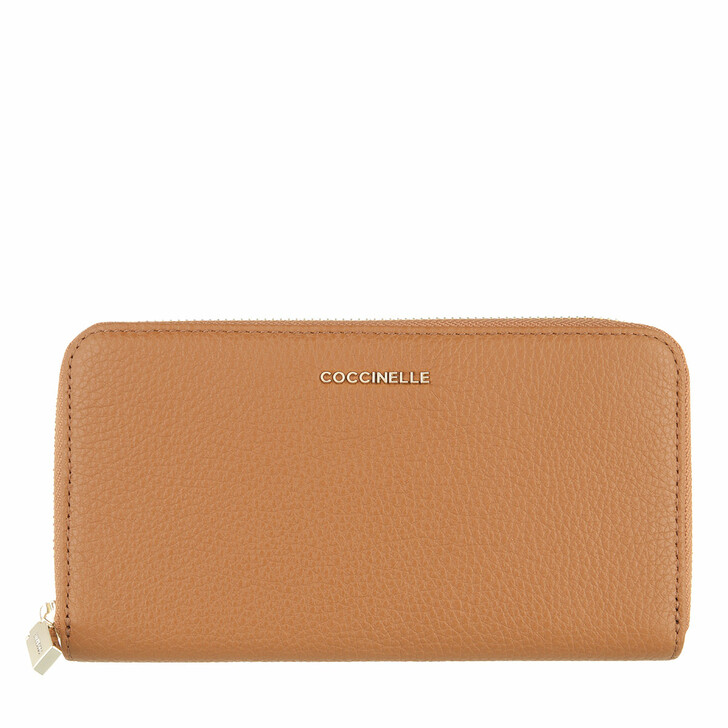 wallets, Coccinelle, Wallet Grainy Leather  Caramel