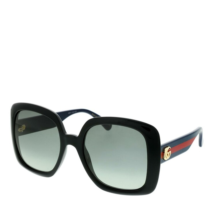 Sonnenbrille, Gucci, GG0713S-001 55 Sunglasses Black-Blue-Grey