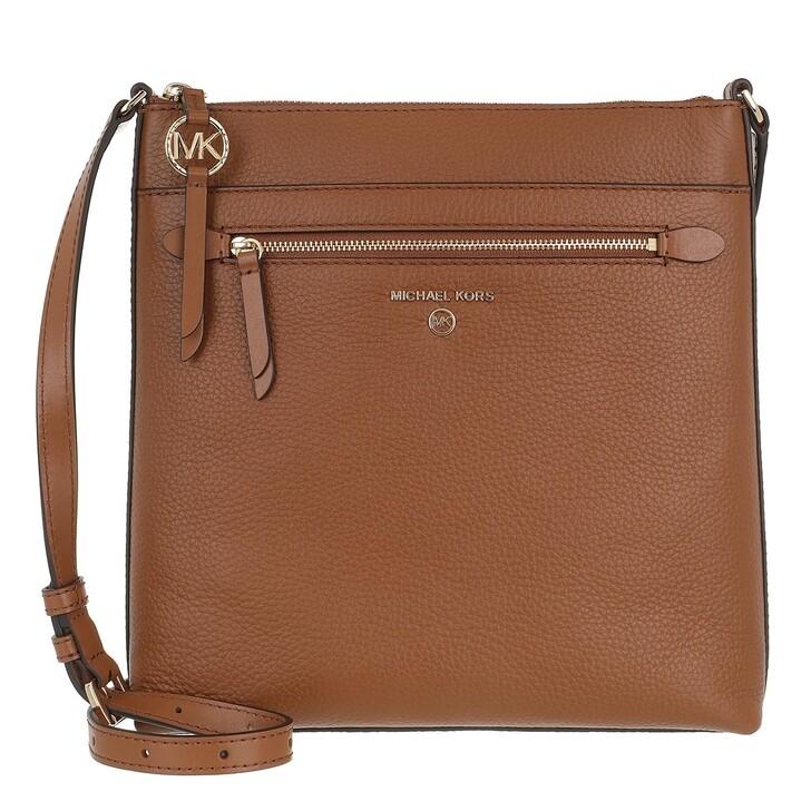 Handtasche, MICHAEL Michael Kors, Jet Set Charm Flat Crossbody Bag Leather Luggage