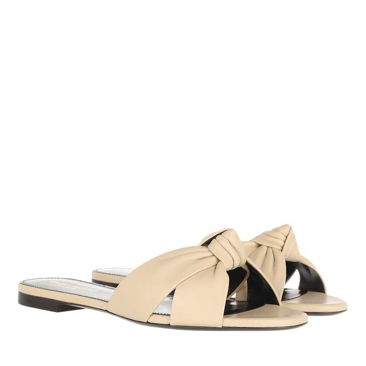 Schuh, Saint Laurent, Flat Sandals Nude