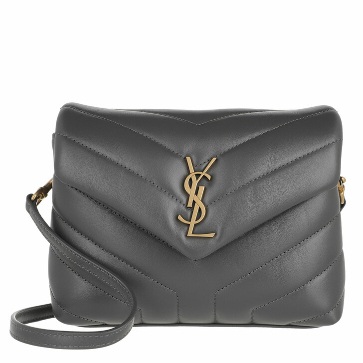 bags, Saint Laurent, Monogram LouLou Toy Bag Quilted Leather Storm