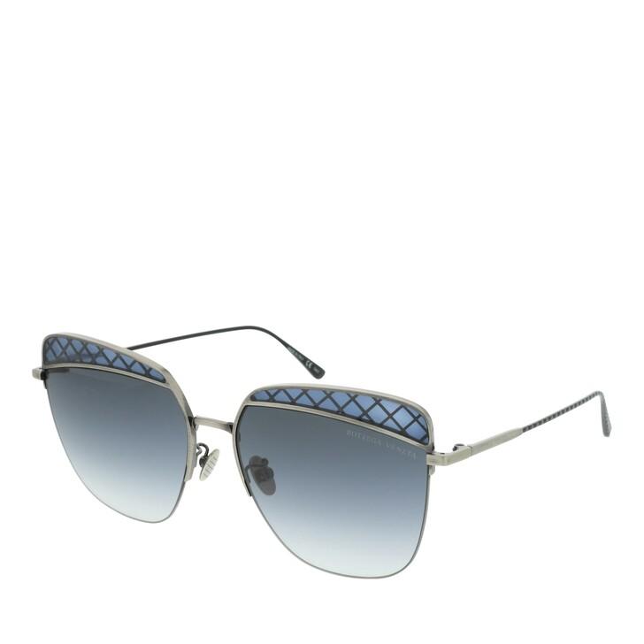 Sonnenbrille, Bottega Veneta, BV0250S-001 59 Sunglass WOMAN METAL SILVER