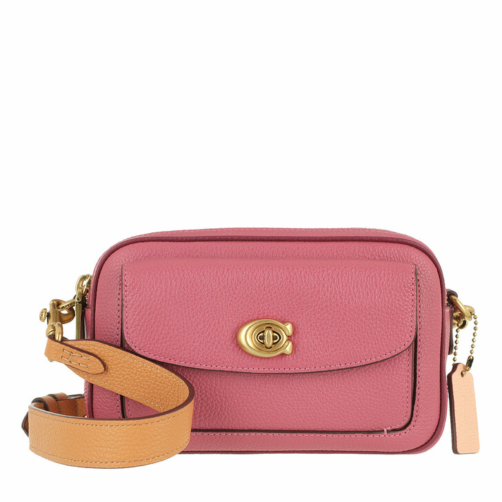 bags, Coach, Colorblock Leather Willow Camera Bag B4/Rouge Multi