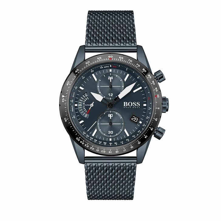 watches, Boss, Watch Pilot Edition Chrono Blue
