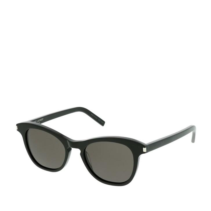 Sonnenbrille, Saint Laurent, SL 356-001 49 Sunglasses Black-Black-Black