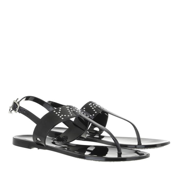 shoes, Karl Lagerfeld, JELLY II Stud Toe Post Black