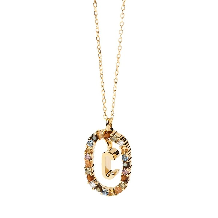 Kette, PDPAOLA, Necklace Letter C Yellow Gold