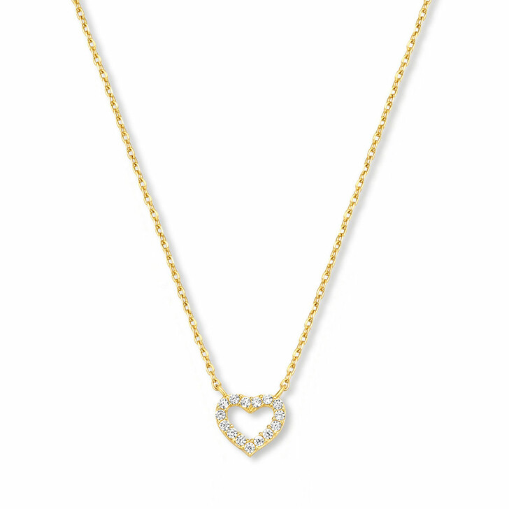 necklaces, Isabel Bernard, Belleville Amore 14 Karat Necklace With Zirconia