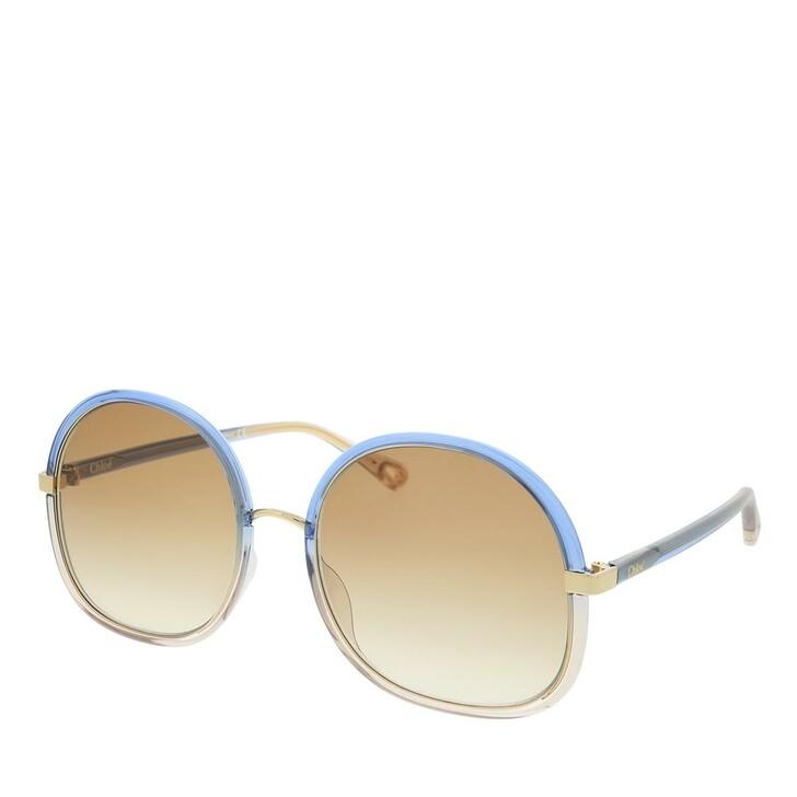 Sonnenbrille, Chloé, Sunglass WOMAN INJECTION BLUE-BLUE-BROWN