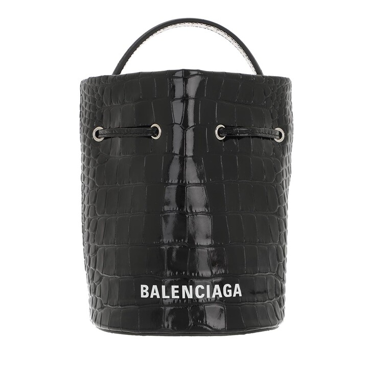 Handtasche, Balenciaga, Everyday Drawstring Bucket Bag XS Black
