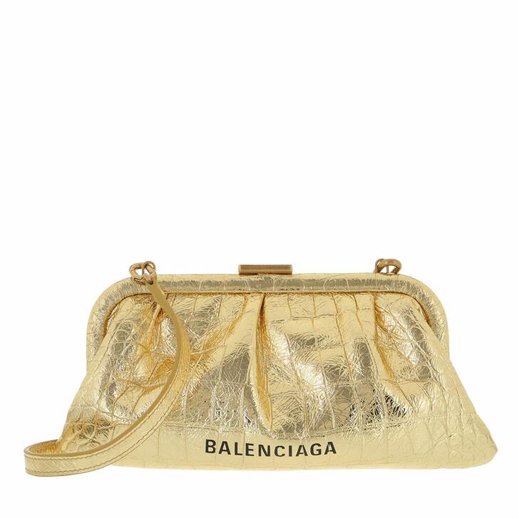 bags, Balenciaga, Crossbody Bag Leather Gold