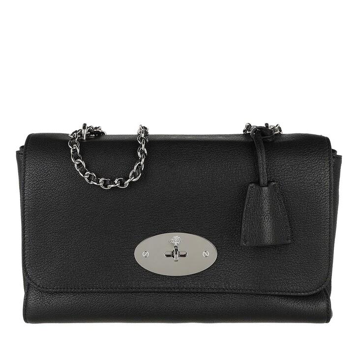bags, Mulberry, Shoulder Bag Leather Black Silver