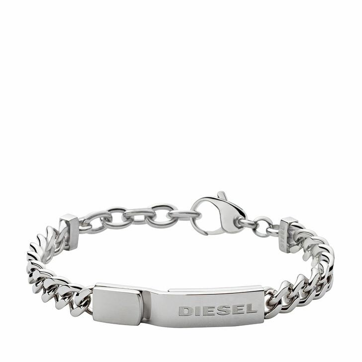 Armreif, Diesel, Stacked Stainless-Steel Bracelet Silver