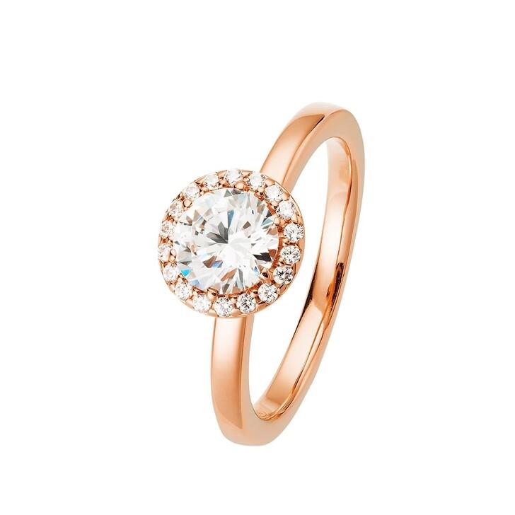 Ring, BELORO, Ring Sparkling Zirconia Rose Gold