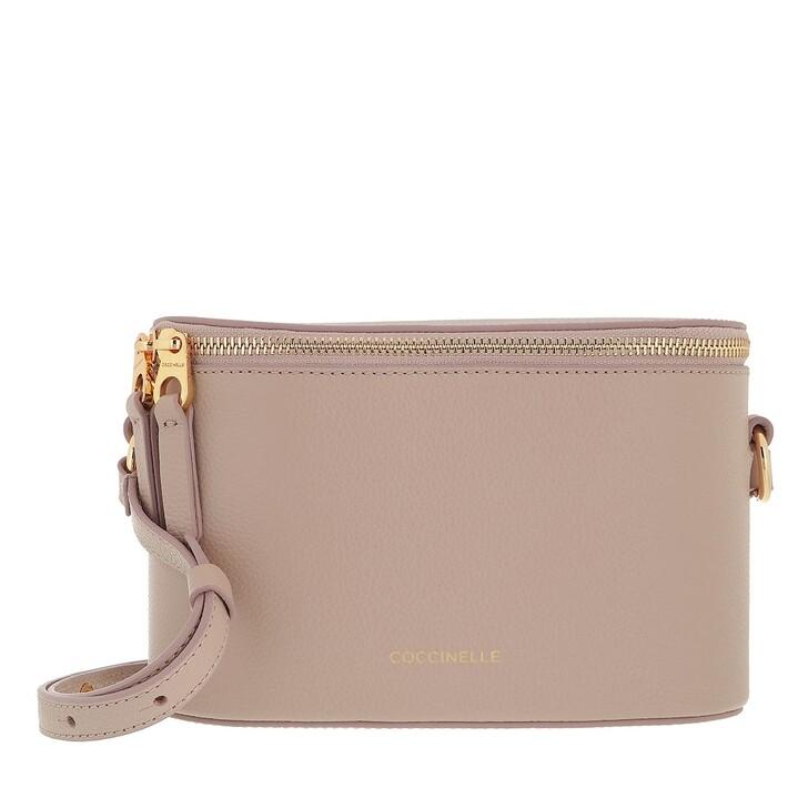 bags, Coccinelle, Juliette Handbag Bottalatino Leather Powder Pink