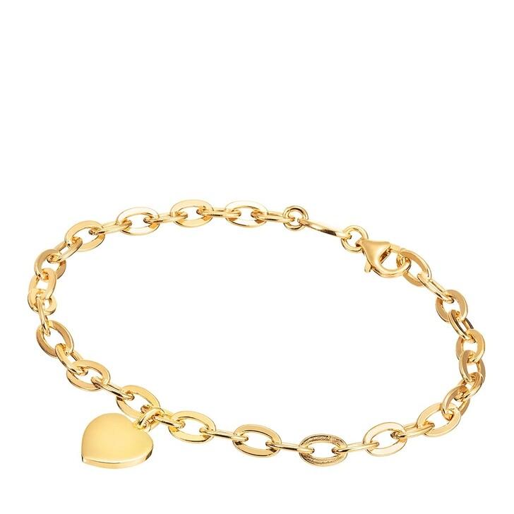 Armreif, BELORO, Bracelet Heart Yellow Gold