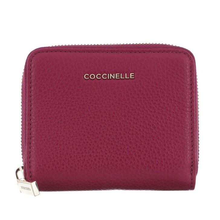 Geldbörse, Coccinelle, Metallic Soft Wallet Leather  Deep Violet
