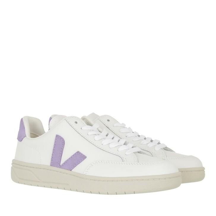 shoes, Veja, V-12 Leather  Extra-White Lavandel