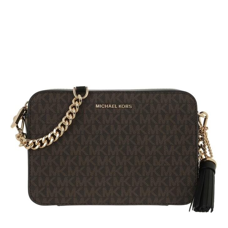 bags, MICHAEL Michael Kors, Medium Camera Bag Brown/Black