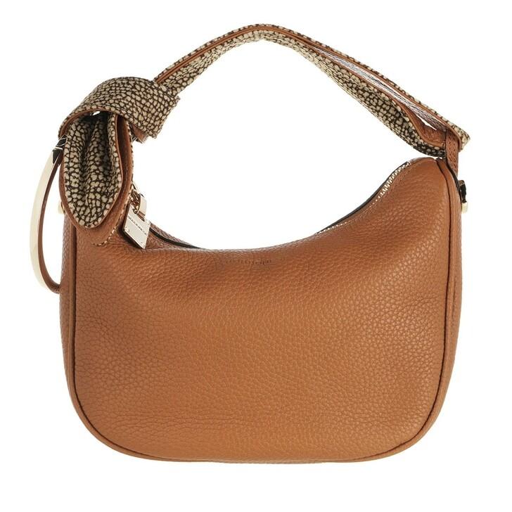 Handtasche, Borbonese, Petite Luna Satchel Bag Brown