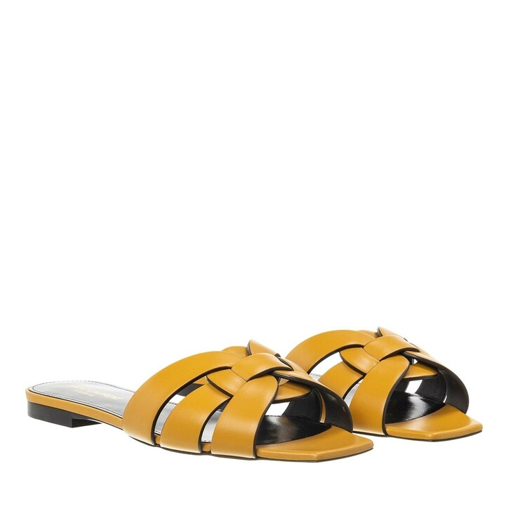 Schuh, Saint Laurent, Flat Tribut Sandal Safari Kaki
