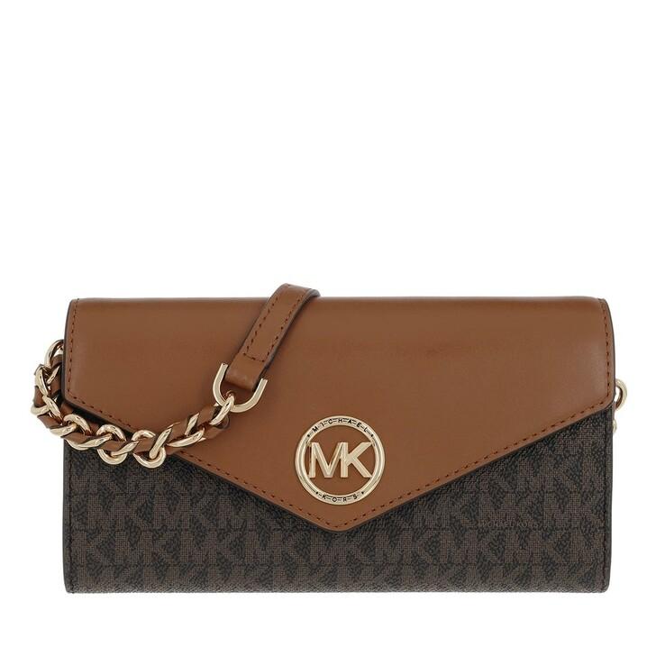 Handtasche, MICHAEL Michael Kors, Carmen Wallet On Chain Brown/Acorn