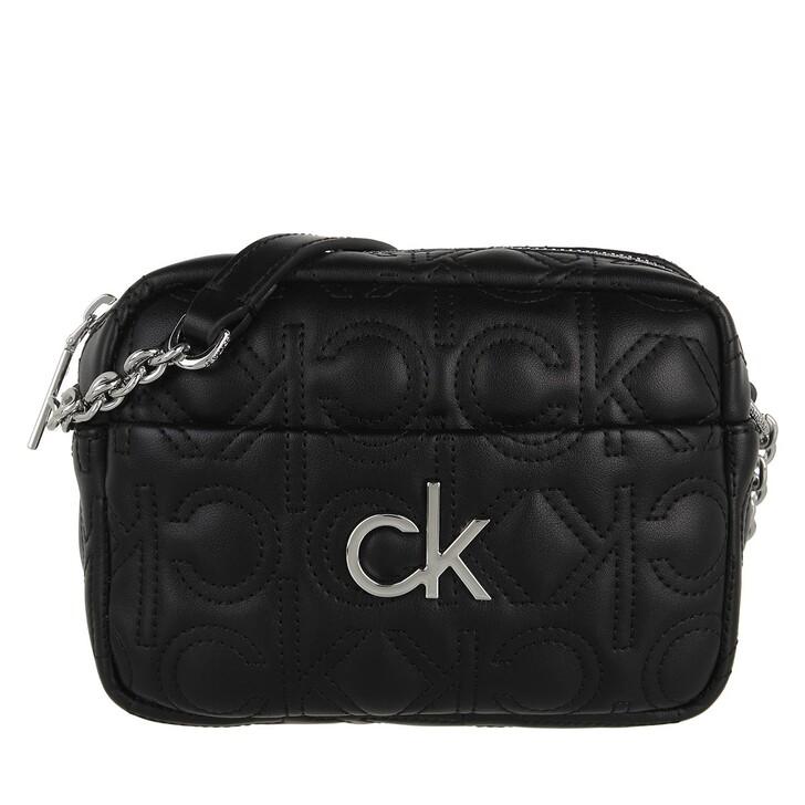 bags, Calvin Klein, Re-Lock Camera Bag Quilt CK Black