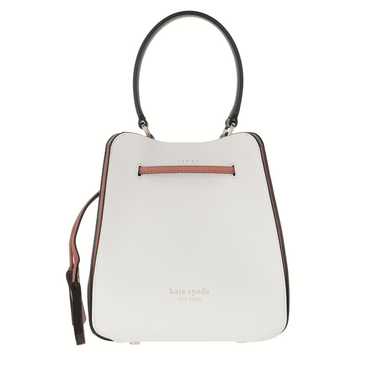 Handtasche, Kate Spade New York, Busy Small Bucket Bag Optic White Multi