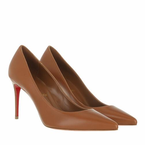 christian louboutin -  Pumps & High Heels - Kate 85 Pumps Nappa - in braun - für Damen