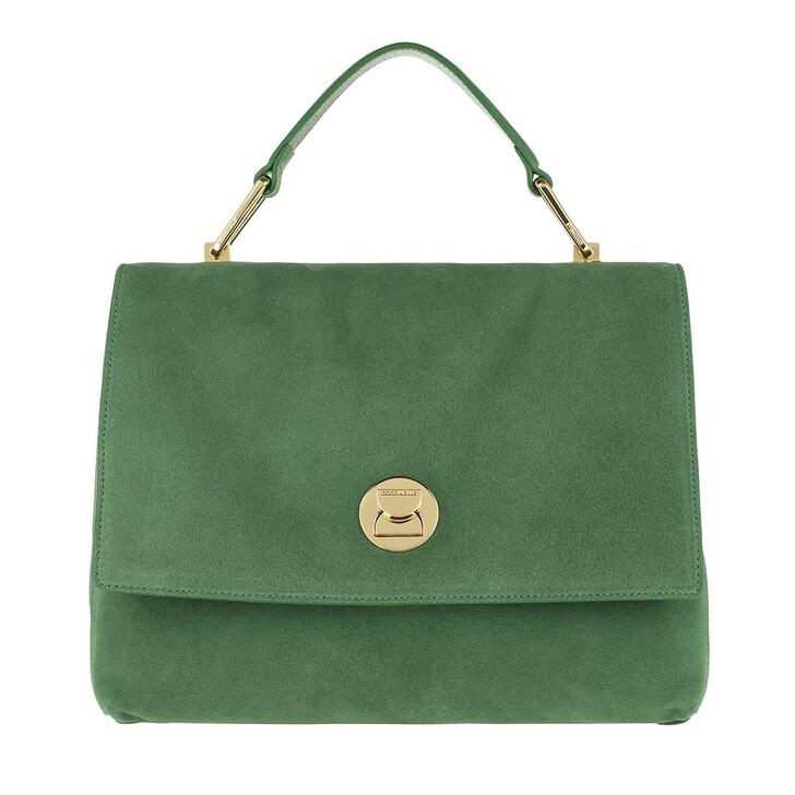 bags, Coccinelle, Liya Suede Handle Bag Leaf