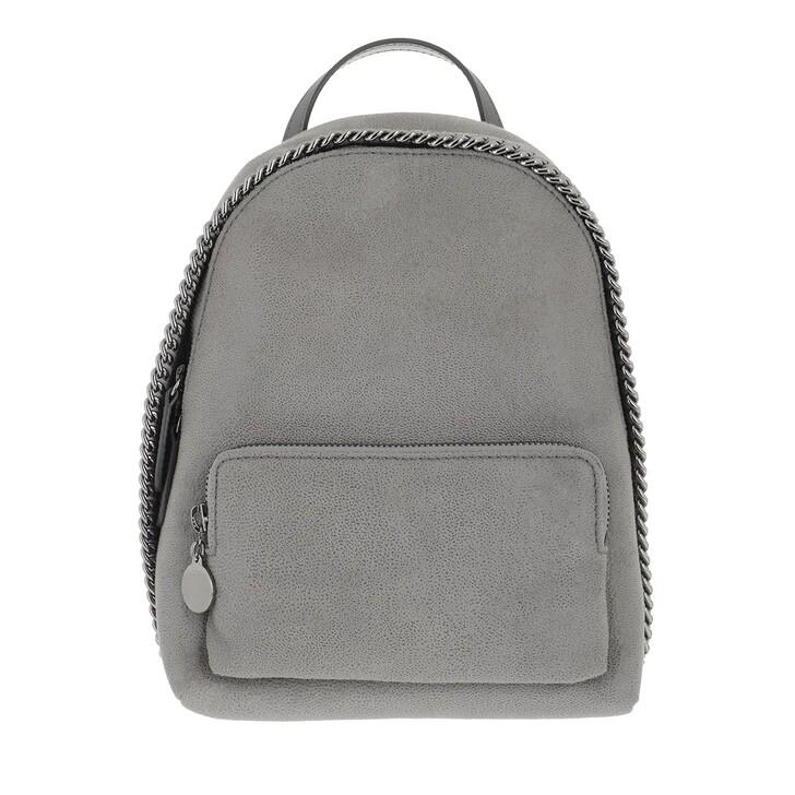 Reisetasche, Stella McCartney, Falabella Mini Zip Around Backpack Shaggy Deer Light Grey
