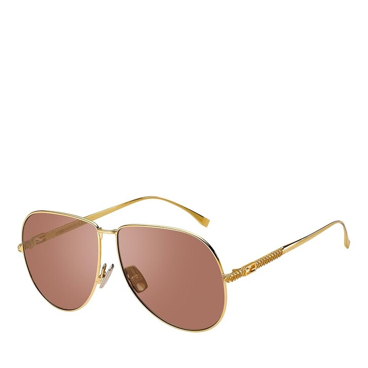 Sonnenbrille, Fendi, FF 0437/S YELLOW GOLD