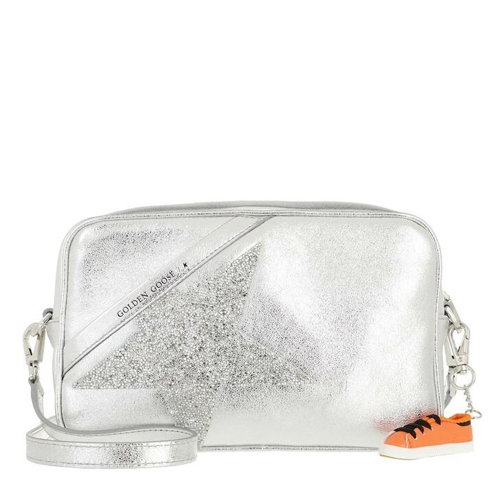 Handtasche, Golden Goose, Star Crossbody Bag Leather Silver