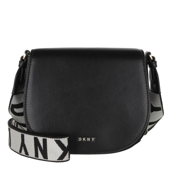 Handtasche, DKNY, Winonna Saddle Bag Black Gold