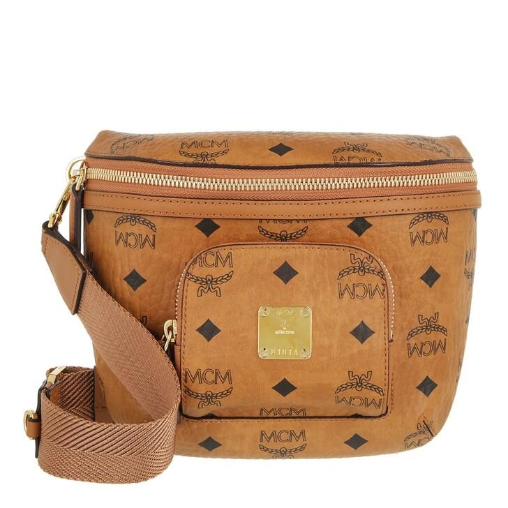 bags, MCM, Klassik Visetos Crossbody Small  Cognac