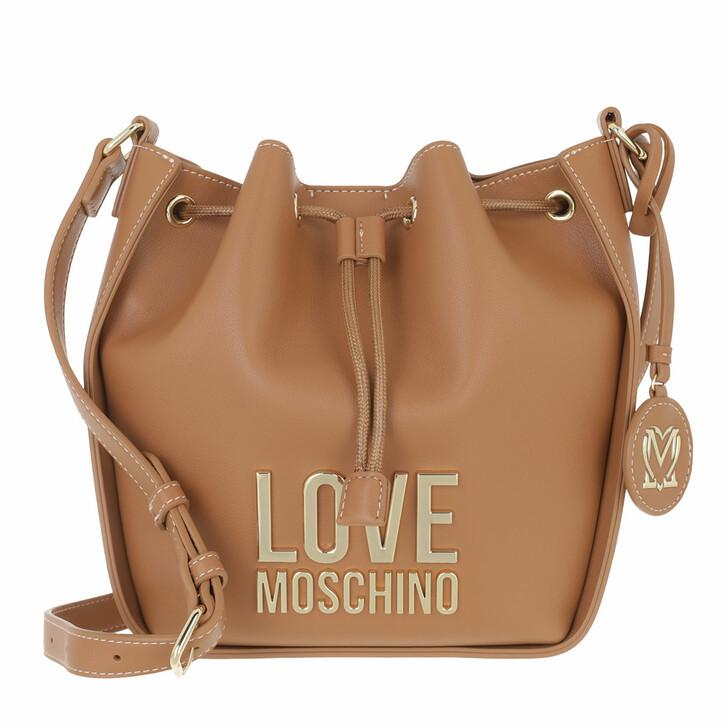 bags, Love Moschino, Borsa Bonded Pu Cammello