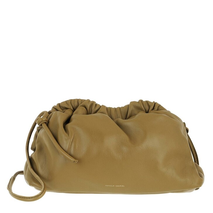 Handtasche, Mansur Gavriel, Mini Cloud Clutch Leather Safari